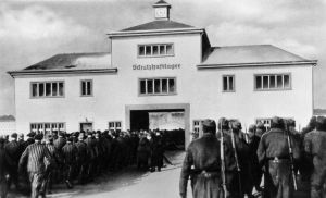 sachsenhausen prisoners return from labor